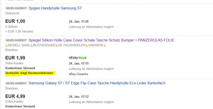Aufgepasst bei eBay: Irreführende Werbung mit der Angabe
