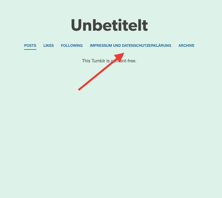 Tumblr: Impressum und Datenschutzerklärung rechtssicher einbinden ...