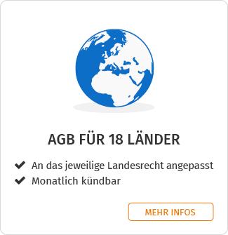 AGB für 18 Länder