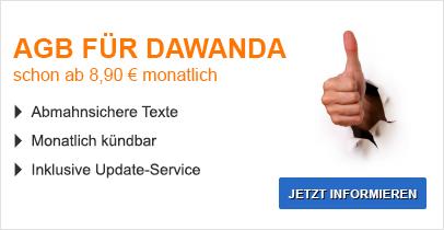 AGB für Dawanda