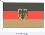 Achtung beim Verkauf von Fanartikeln: Die Verwendung des Bundeswappens, Bundesadlers oder der Dienstflagge des Bundes auf Fanartikeln ist nicht gestattet