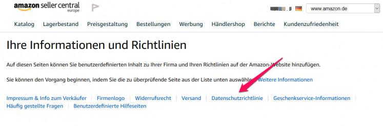Amazon Datenschutzrichtlinie