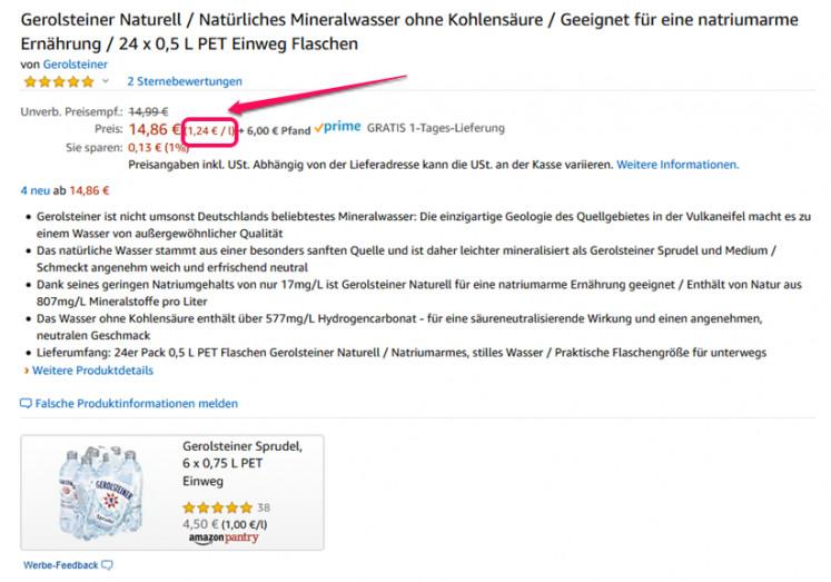 Amazon Grundpreis 1
