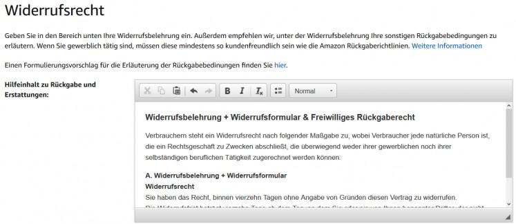 Amazon Widerrufsrecht 2