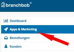 Auswahl Apps und Marketing im Branchbob Shop