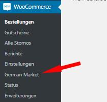 Auswahl German Market bei WooCommerce