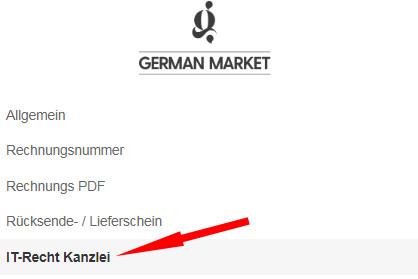 Auswahl IT-Recht Kanzlei bei German Market