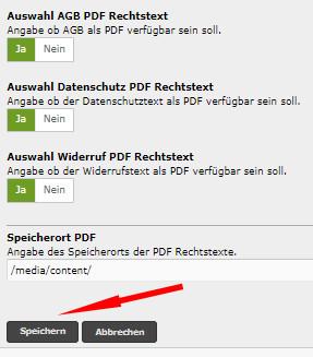 Auswahl PDF Anhänge und Speichern