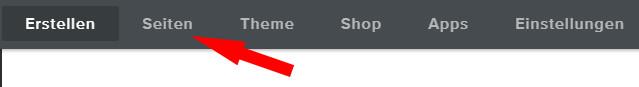 Auswahl Seiten im Weebly Account