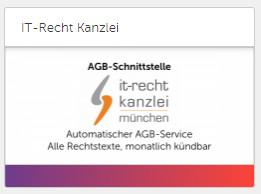 Auswahl der AGB-Schnittstellen App der IT-Recht Kanzlei