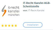 Auswahl des Plugins IT-Recht Kanzlei AGB-Schnittstelle bei Shopware