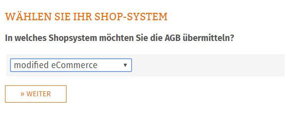 Auswahl des Shopsystems modified eCommerce