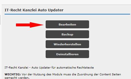 Auto Updater bearbeiten