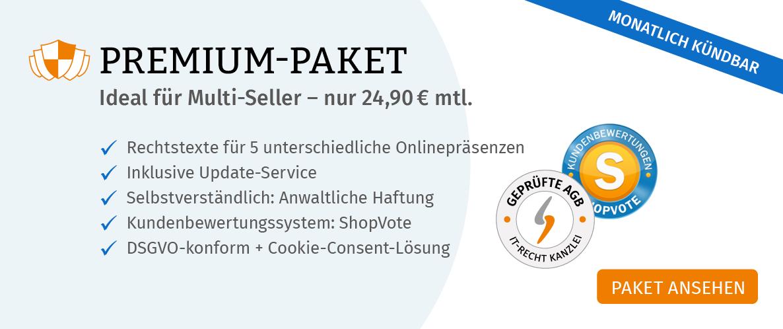 Banner Startseite Premium Paket