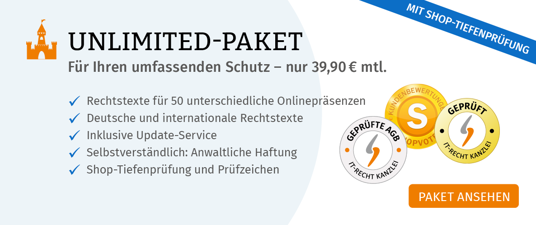 Banner Startseite Unlimited Paket