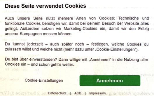 BayLDA Schreiben Screenshot Cookie Consent Tool