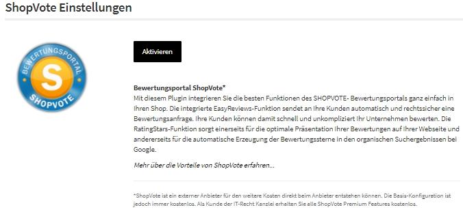 Der azoo Einrichtungsassistent für Shopvote Kundenbewertungen
