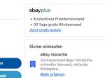 """Ebay.de: Problematische Werbung für """"ebay plus"""" und """"eBay-Garantie"""""""
