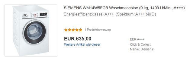 Energieeffizienzklasse und Spektrum auf eBay