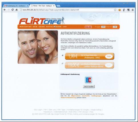 Flirtcafe Screenshot