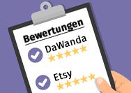 Ganz einfach: Bewertungen von Dawanda und Etsy in einen Onlineshop integrieren