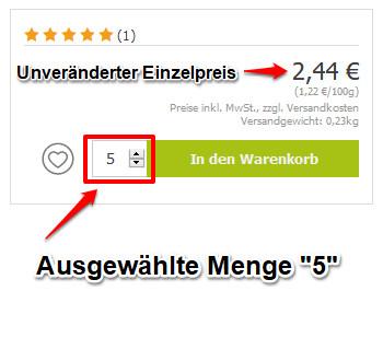 Gesamtpreis Online-Shop 2