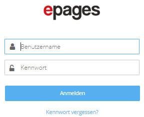 Händler-Login bei ePages