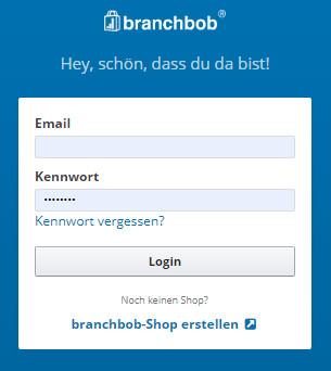 Login Branchbob Admin