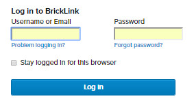 Login in den Bricklink Händleraccount