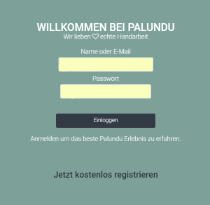 Login in den Palundu Account