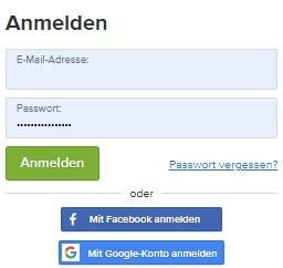 Login in den webador Account