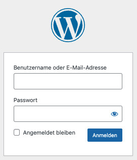Login in die Wordpress-Präsenz