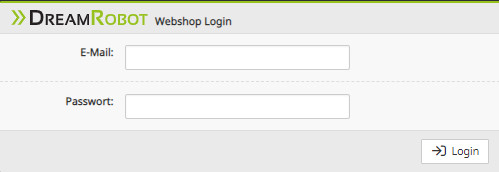 Login in in den DR-Webshop