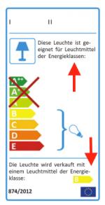 Mehrsprachige Energieetiketten für Leuchten zulässig?
