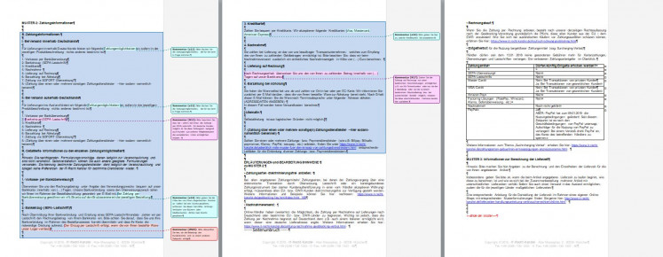 Neues Muster Informationsseite Fur Versand Und Zahlung Unter Berucksichtigung Der Geoblocking Verordnung
