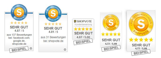 ShopVote-Grafiken für RatingStars