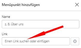Shopify - Link suchen oder hinzufügen
