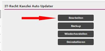 Start der Bearbeitung des Auto-Updaters