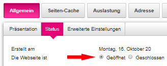 Status geöffnet im Telekom Shop