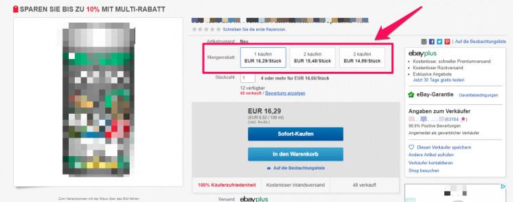 eBay Mengenrabatt