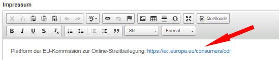 klickbarer OS-Link bei Argato