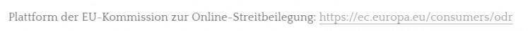 klickbarer OS-Link im Impressum bei Weebly
