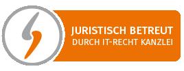 Logo Juristisch betreut durch IT Recht Kanzlei - Impressum