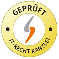 Geprüft und vertreten durch die IT-Recht Kanzlei
